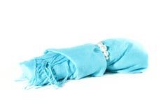 koralików błękitny rolki szalik Zdjęcia Royalty Free