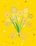 koralików jaskrawy karciany nowy płatków śniegów rok Obrazy Royalty Free