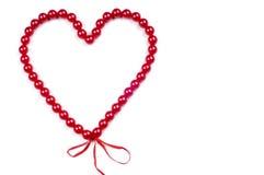 koralików serca czerwień Zdjęcie Stock