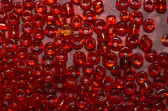 koralików szkła czerwień Obraz Stock