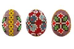 koraliki dekorowali Easter jajka Zdjęcie Royalty Free