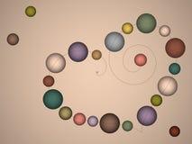 Koraliki kolorowe rozjarzone piłki Obraz Royalty Free