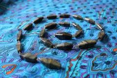 Koraliki od szarozielonego agata Zdjęcia Royalty Free