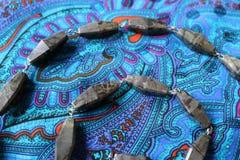 Koraliki od szarozielonego agata Obraz Royalty Free
