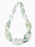 koraliki zielenieją biel Zdjęcia Stock