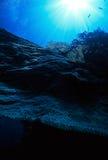Korallen und Sonne Stockbild
