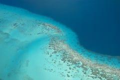 Korallenriff bei Borabora Stockfoto