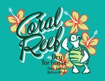 Korallenriff der Schildkröteninsel stock abbildung