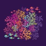 Korallenriffe färben Vektorillustration stock abbildung