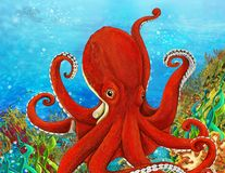 Korallreven - illustration för barnen Royaltyfria Foton
