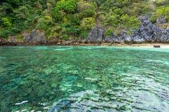 Korallrever på hästskoön Arkivfoton