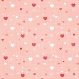 Koralowa tkanina textured serce bezszwowy deseniowy druk zdjęcie stock