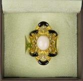 koralowego pierścionku oświadczenie Fotografia Royalty Free