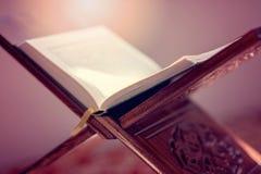Koran - święta księga muzułmanin jawna rzecz wszystkie muslims w meczecie Obraz Royalty Free