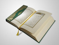 Koran. Islamic Holy Book - Koran (with clipping path royalty free stock images