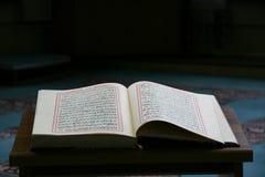 Koran - book of Muslims. Koran - holy book of Muslims at the mosque Royalty Free Stock Photo
