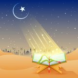 Koran in Happy Eid background Royalty Free Stock Images