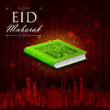 Koran in Happy Eid background. Easy to edit vector illustration of holy book Koran in Happy Eid background Royalty Free Stock Images