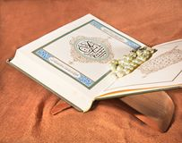 Koran, holy book Stock Photos
