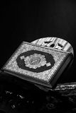 Koran - holy book of Muslims,ฺblack and white  style filtered photo.  Stock Images