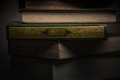 Koran - holy book of Muslims  public item of all muslims. On the table , still life Stock Photos