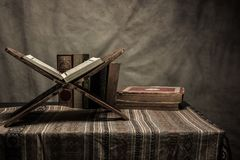 Koran - holy book of Muslims  public item of all muslims. On the table , still life Stock Photo