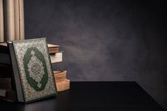 Koran - holy book of Muslims  public item of all muslims. On the table , still life Stock Image