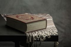 Koran - holy book of Muslims  public item of all muslims  on t. He table , still life Stock Photo