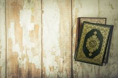 Koran - holy book of Muslims  public item of all muslims  on t. He table , still life Stock Images