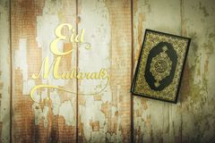 Koran - holy book of Muslims  public item of all muslims  on t. He table , still life Royalty Free Stock Images