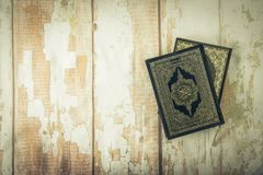 Koran - holy book of Muslims  public item of all muslims  on t. He table , still life Stock Photography