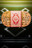 Koran - holy book of Muslims, sunlight effect filter.  Royalty Free Stock Photography