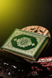 Koran - holy book of Muslims, sunlight effect filter.  Royalty Free Stock Images