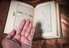 Koran, libro sacro fotografia stock