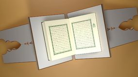 Koran of Quran, het heilige boek van Moslims stock video