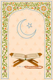 Koran in Ramadan Kareem (Happy Ramadan) background Stock Image