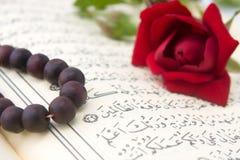 Koran and rose flower royalty free stock image