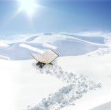 Koran at snow in mountain Stock Images