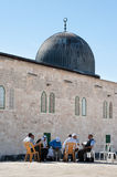 Koran Study at Al-Aqsa Mosque Stock Images
