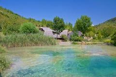 Korana village in Plitvice lakes Royalty Free Stock Photo