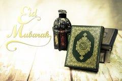 Koranen - helig bok av muslims för objekt för muselmaner offentliga allra på t Arkivbild