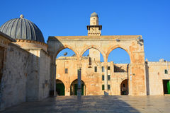 Koranic schools. JERUSALEM ISRAEL 26 11 16: Ashrafiyya the western and northern sides of the terrace of temple mount are surrounded by buildings mainly Koranic Stock Photos
