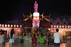 People pray at Thao Suranaree monument Royalty Free Stock Photography