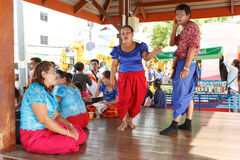 Korat music show on the traditional candle procession festival of Buddha. NAKHON RATCHASIMA, THAILAND - JULY 11: Unidentified Korat music show on the Stock Image
