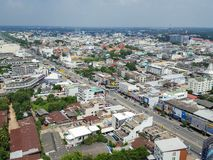 Korat, Nakhon Ratchasima, Tailandia - 23 luglio 2017: L'antenna rivaleggia immagini stock libere da diritti