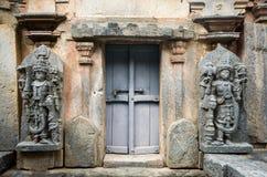 Koravangala :Hoysala寺庙建筑学 库存图片