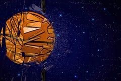 Korb-Ball, der Glas bricht Lizenzfreies Stockbild