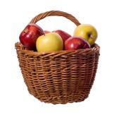Korb der Äpfel Stockbild