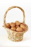 Korb der Eier Lizenzfreies Stockbild