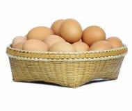 Korb der Eier Lizenzfreies Stockfoto